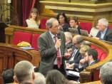 El Presidente de la Generalitat, Quim Torra, en el pleno del Parlament.