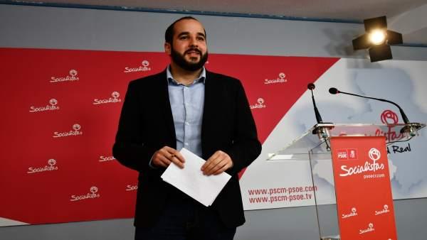 Miguel González en rueda de prensa en Ciudad Real