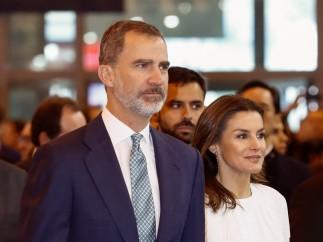Felipe VI y Letizia en la inauguración de la Feria