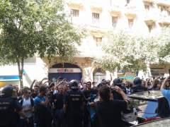 La Policía Nacional en la sede de la CUP