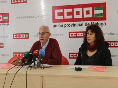 CCOO rueda de prensa sobre educación