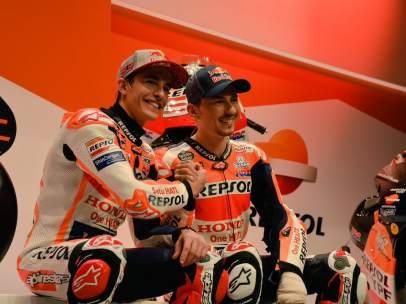 Marc Márquez y Jorge Lorenzo, nuevos compañeros en el equipo Repsol Honda