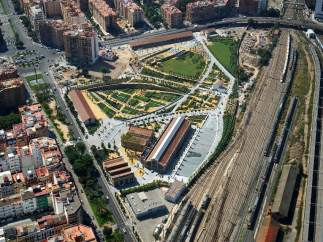 Parque Central y Canal de Acceso Ferroviario
