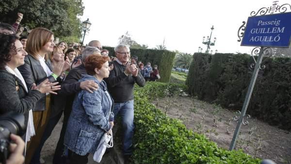 Inauguración del paseo de Guillem Agulló en València