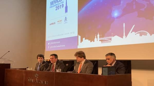 Acto en el que Sevilla ha asumido la Presidencia de Comunidad de Ciudades Ariane