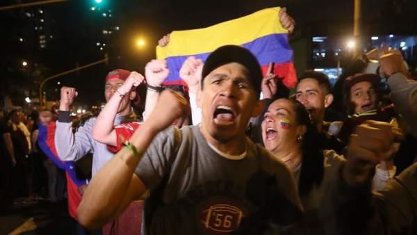 Opositores venezolanos en Bogotá
