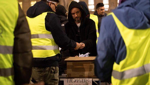 Votación de la huelga en Barcelona