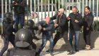 La Policía carga contra los taxistas en Ifema