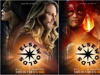 Arrow (Melissa Benoist) & Supergirl (Stephen Amell) / Flash (Tyler Hoechlin) & Superman (Grant Gustin)