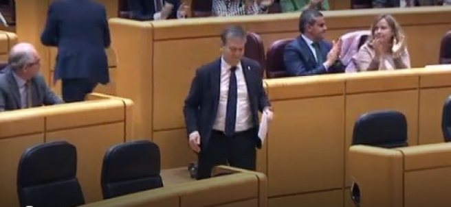 Ignacio Cosidó toma la palabra en el Senado