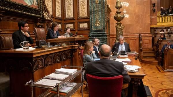 Pleno del Ayuntamiento de Barcelona.