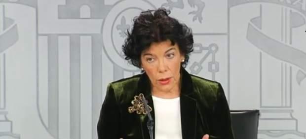 Rueda de prensa de la portavoz del Gobierno, Isabel Celaá, tras el Consejo de Mi