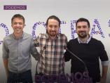 Iñigo Errejón, Pablo Iglesias y Ramón Espinar