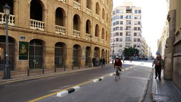 Carril bici de la calle Alicante