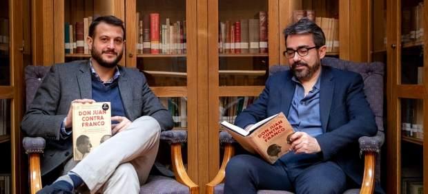 Juan Fernández-Miranda (izquierda) y Jesús García Calero (derecha) publican 'Don Juan contra Franco'.