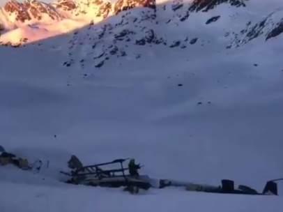 Avioneta estrellada en los Alpes