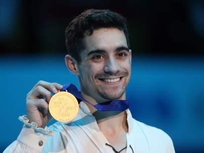 Javier Fernández, siete veces campeón de Europa