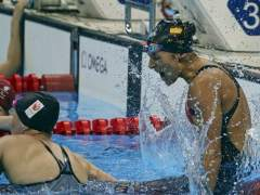 La nadadora paralímpica Michelle Alonso