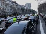 Concentración de VTC en la Diagonal de Barcelona