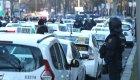 Los taxistas bloquean el centro de Madrid
