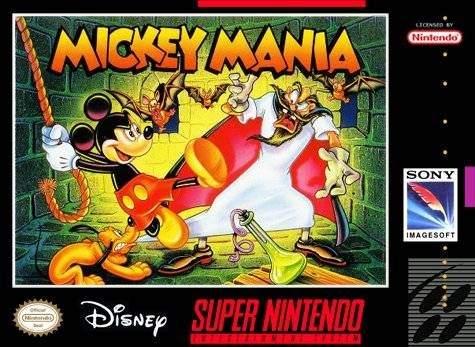Carátula del título 'Mickey Mania' de SNES