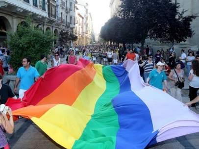 Bandera Orgullo LGTBI.