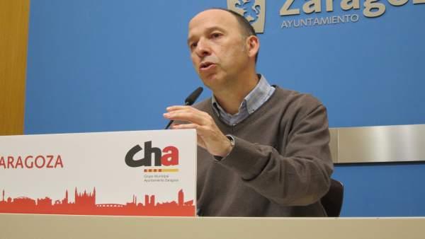 Portavoz de CHA en el Ayuntamiento de Zaragoza, Carmelo Asensio