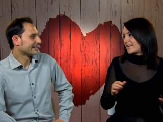 Carlos y Tania, en 'First Dates'.