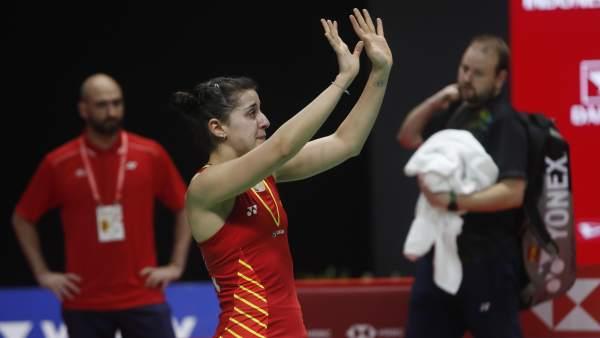 Carolina Marín se lesiona en la final del Masters de Indonesia