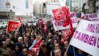 Los VTC protestan en la sede de Podemos en Madrid