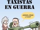 'Taxistas en guerra', viñeta de Álvaro Terán