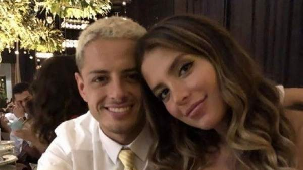 Chicharito y su pareja Sarah Kohan