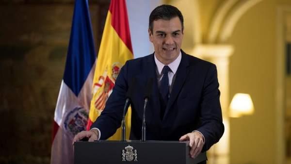 El presidente del Gobierno, Pedro Sánchez, durante una comparecencia.