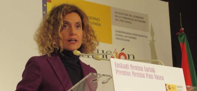 Meritxell Batet, Ministra de Política Territorial y Función Pública en una comparecencia.
