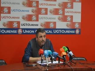 Rueda de prensa de UU.AA. En Ourense.