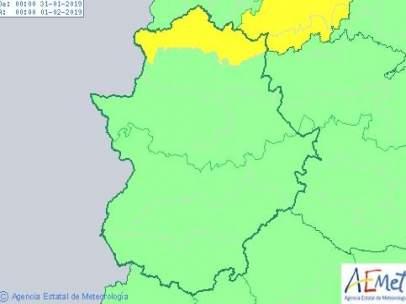 Alertas 31 de enero en Extremadura