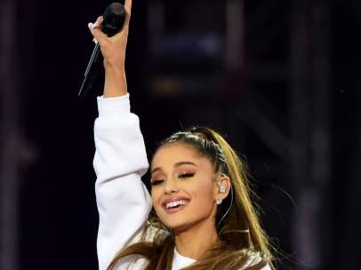 Ariana Grande durante el concierto 'One Love Manchester'