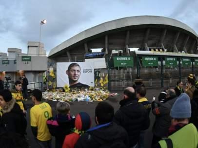 El Nantes homenajea a Emiliano Sala.