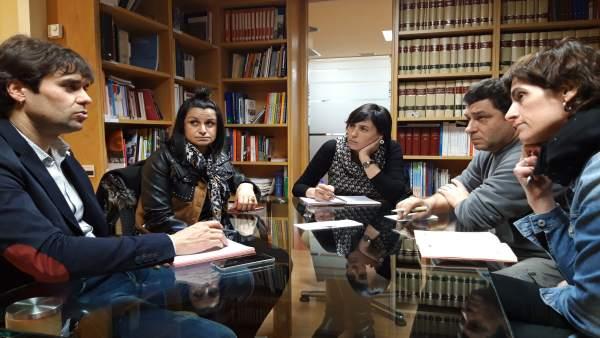 Reunión de la Federación Navarra de Municipios y Concejos con la Asociación de L