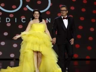 Andreu Buenafuente y Silvia Abril, en los Premios Goya 2019.