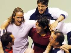 El equipo español de Copa Davis en 2004
