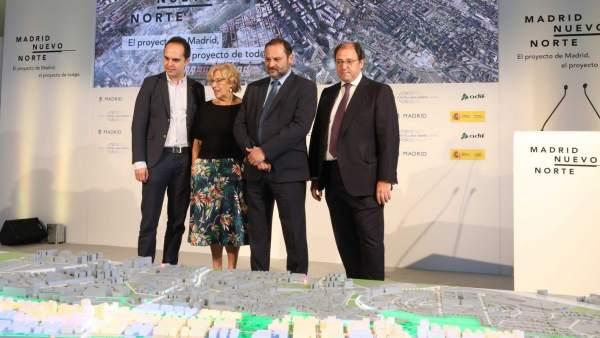 Carmena y el ministro Ábalos, en la presentación del proyecto Madrid Nuevo Norte.