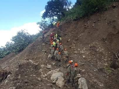 Deslizamiento de tierra en Bolivia