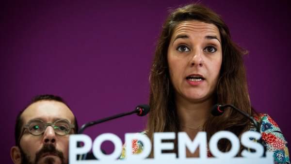 Rueda de prensa de Pablo Echenique y Noelia Vera