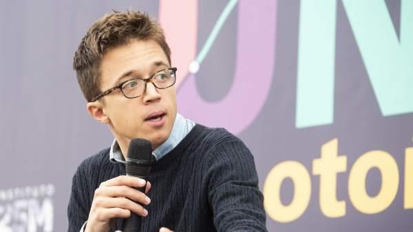 Íñigo Errejón, en la Universidad de otoño de Podemos.