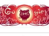 Doodle del año nuevo chino