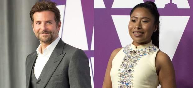 Bradley Cooper ejerce de fan de la protagonista de 'Roma' en la comida de los Oscar