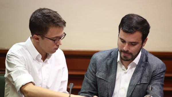 Errejón y Alberto Garzón en el Congreso