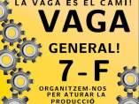 Cartel de los CDR apoyando la huelga general del 7 de febrero.