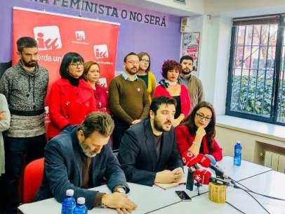 Mauricio Valiente, Álvaro Aguilera y Sol Sánchez, este martes, tras la Colegiada.